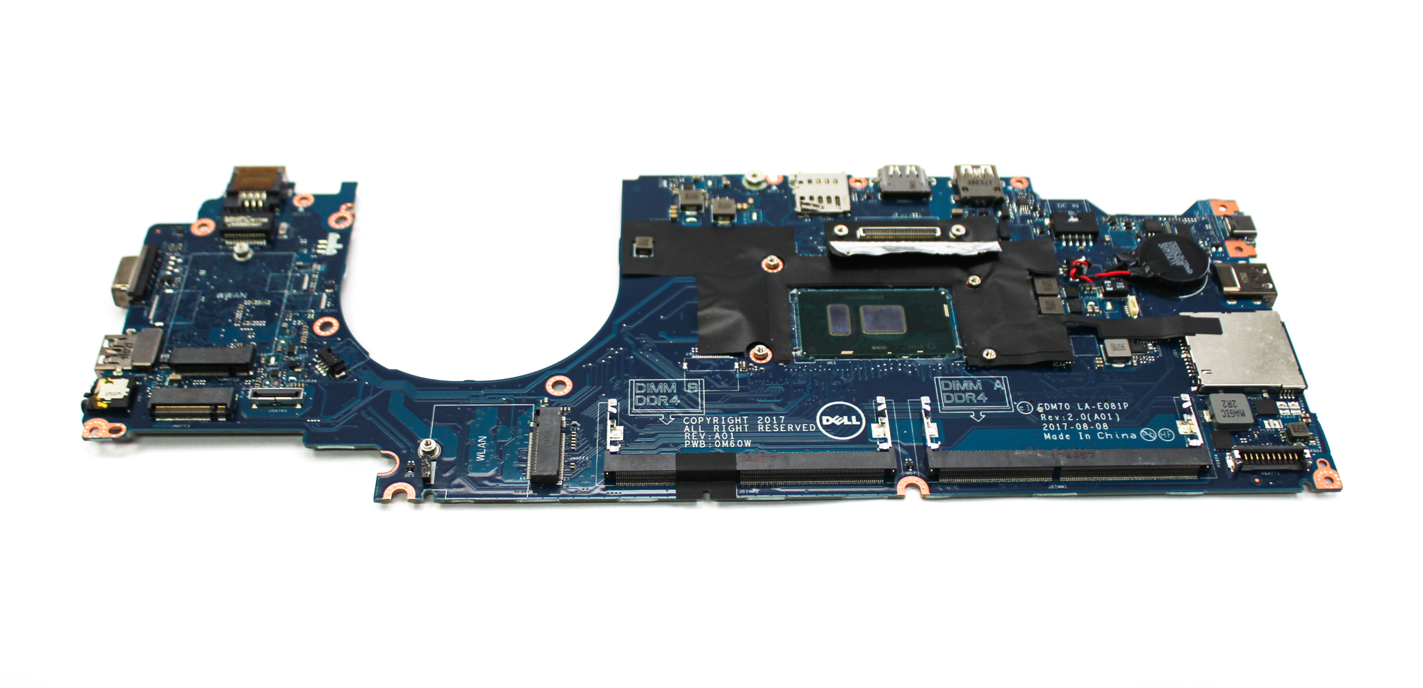 RR5H9 Dell Latitude 5480 Laptop Motherboard /w BGA Core i5-8250U CPU